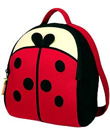 Elefantastik Lady Bug Backpack - Red And Black - 12 X 11 X 6 Inches