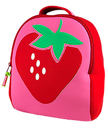 Elefantastik Strawberry Fields Backpack - Pink And Red - 12 X 11 X 6 Inches