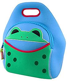 Elefantastik Hopping Frog Lunch Bag - Blue And Green