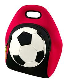 Elefantastik Game On Soccer Lunch Bag - Red And Black
