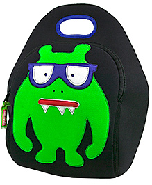 Elefantastik Monster Geek Lunch Bag - Black And Green
