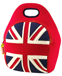 Elefantastik British Flag Lunch Bag - Red And Blue - 12 X 11 X 6 Inches