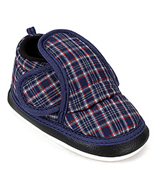 Littles Musical Baby Booties - Checks Print