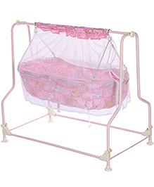Infanto Baby Cradle Pink - Teddy Print