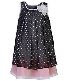 Herberto Heart Dress Party Dress - Black