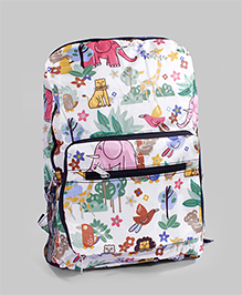 Cath Kidston Chalk White Animated Print Backpack