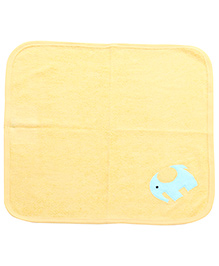 Child World Hand And Face Towel Yellow - Elephant Print