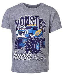 Babyhug Half Sleeves T-Shirt - Truck Print