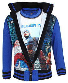 Finger Chips T-Shirt With Jacket - Captain America Print - 1 Year