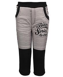 Little Kangaroos Quilted Bottom Biker Series Embroidery - Black