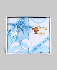 Montaly Baby Gift Set Blue - Set of 6