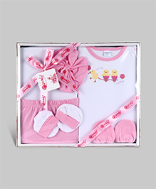 Montaly Baby Gift Set Pink - Set of 6
