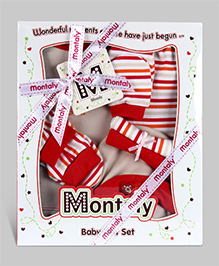 Montaly Baby Gift Set Red - Set of 7