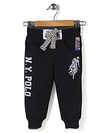 New York Polo Academy Drawstring Pant - Black