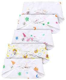 Tinycare Triangle Cloth Nappy White Small - Pack Of 5