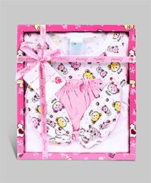 Montaly Baby Gift Set Bear Print - Set of 4