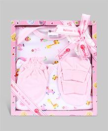 Montaly Baby Gift Set Pink - Set of 4
