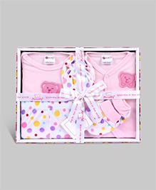 Montaly Baby Gift Set Pink - Set of 5
