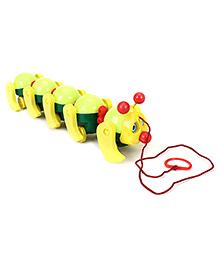 Ratnas Cute Cate Caterpillar Pull Along Toy - Multi Colour