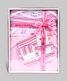 Montaly Printed Baby Gift Set Pink - Set of 5