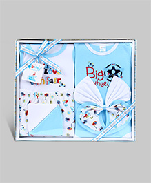 Montaly Baby Printed Gift Set Blue - Set of 7