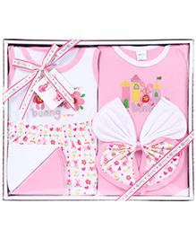 Montaly Baby Gift Set Bunny Print - Set of 7