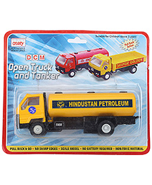 Centy Miniature DCM Open Truck  And Tanker - Yellow