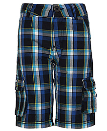 Bells And Whistles Varsity Themed Shorts - Checks Pattern