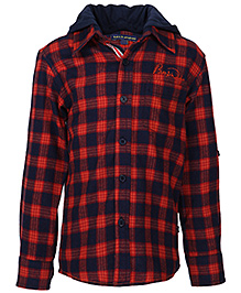 Bells And Whistles Travel Themed Shirt - Checks Pattern