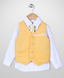 Tippy Shirt With Waistcoat And Tie - Ducati Print