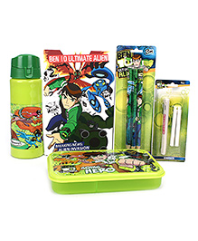 Ben 10 School Kit Green - Set Of 5