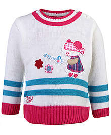 Babyhug Full Sleeves Sweater - Teddy Patch