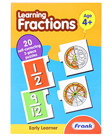 Frank Learning Fractions Puzzle - 40 Pieces
