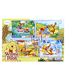 Frank Disney Winnie the Pooh 4 In 1 Puzzles