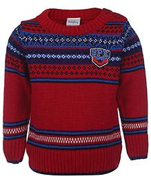 Babyhug Full Sleeves Sweater SPK Patch - Red
