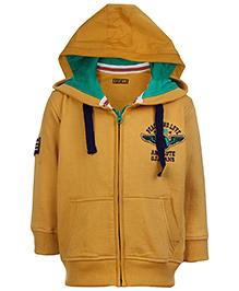 Gini & Jony Full Sleeves Hooded Jacket - Solid Color