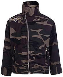 Gini & Jony Full Sleeves Jacket - Army Print