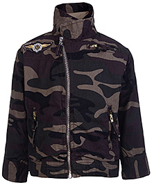 Gini & Jony Full Sleeves Jacket - Army Print