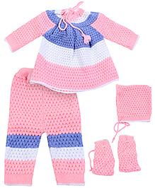 Babyhug Full Sleeves Sweater Set - Multicolor