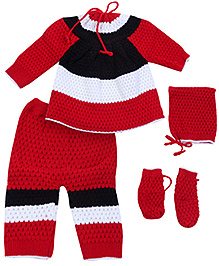 Babyhug Full Sleeves Sweater Set - Multicolor