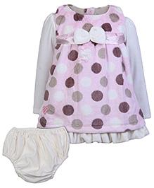 Little Kangaroo Sleeveless Top With Full Sleeve Inner Tee And Bloomer - Pink
