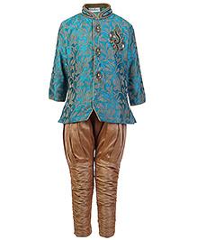 Babyhug Full Sleeves Kurta And Jodhpuri Pajama - Embroidery