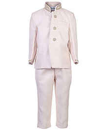 Babyhug Full Sleeves Sherwani And Trouser Suit - Diamond Work