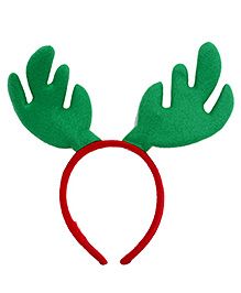 Party In A Box Reindeer Headband - Green And Red