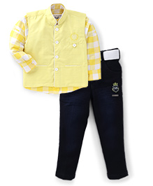 Active Kids Wear Shirt Trousers And Jacket - Checks