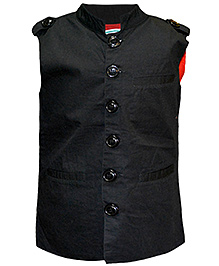 Cool Quotient Poplin Nehru Jacket - Black