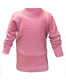 Via Italia Flower Sequin Sweater - Pink
