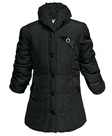 Via Italia High Neck Quilted Jacket - Black