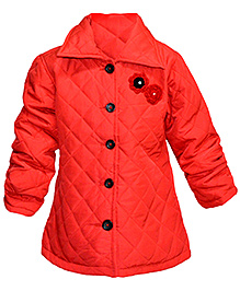 Via Italia  Quilted Collar Jacket - Red