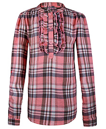 My Lil Berry Check Flannel Shirt - Pink And Grey